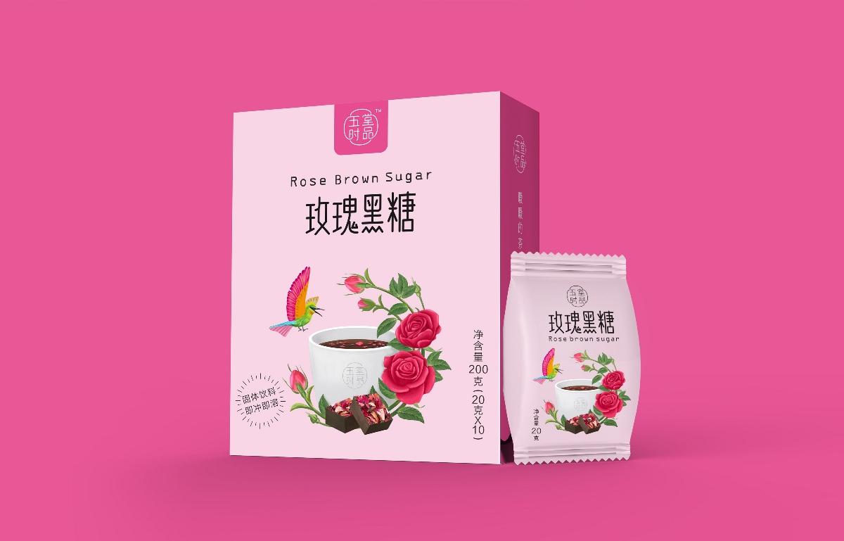 创意极简黑糖茶包装设计