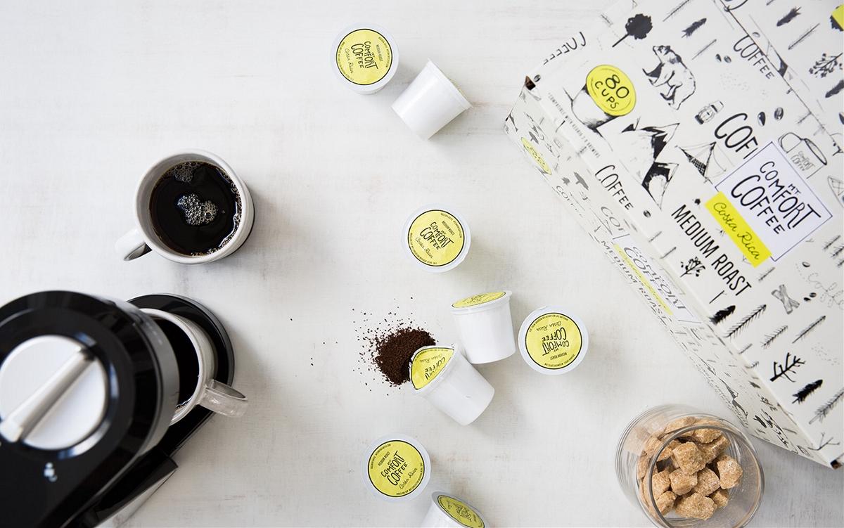 时尚个性手绘有趣的咖啡包装