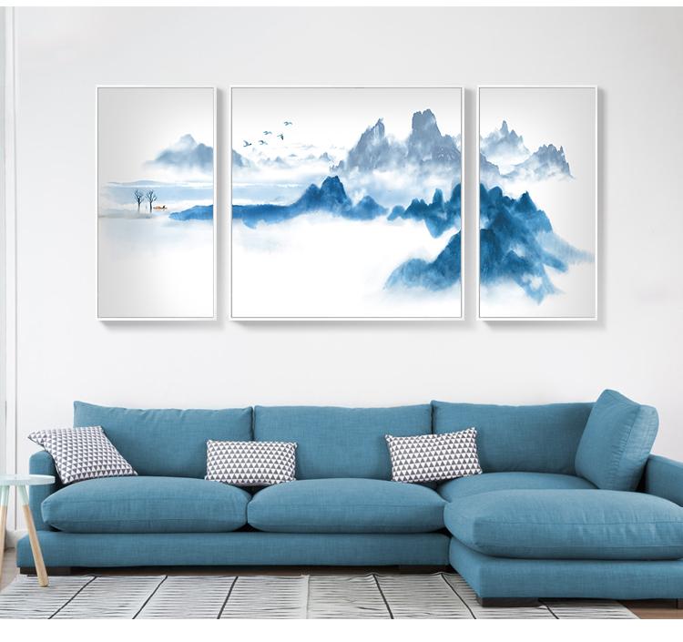 景秀山河,精美水墨装饰画