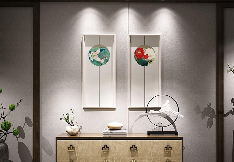中国风简约意蕴的装饰画