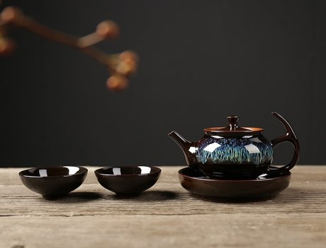 建盏油滴系列精致茶具