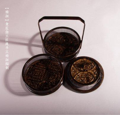 复古中国风手提篮子,精致手工