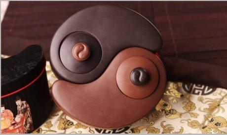 太极阴阳紫砂壶,创意中国风格