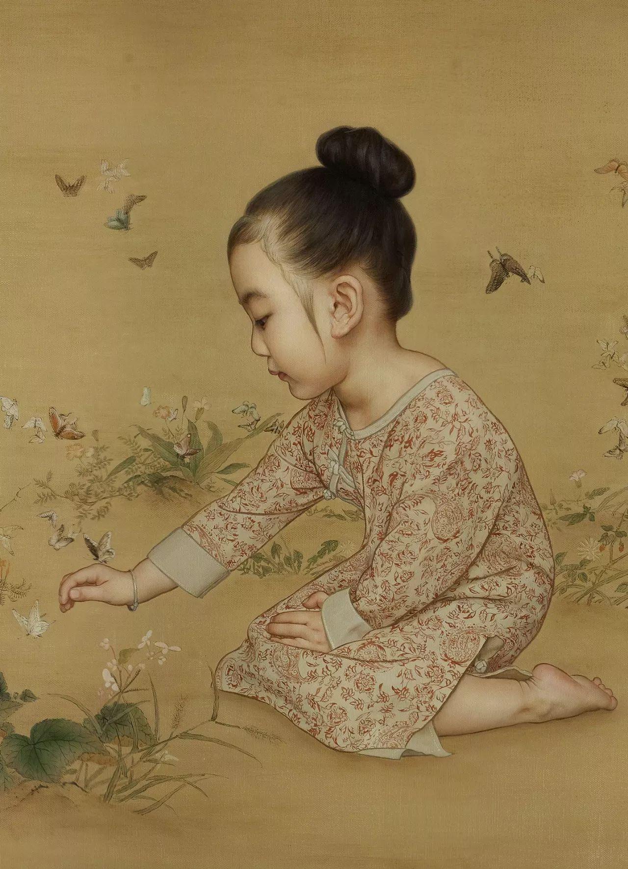 中国油画:记录超唯美的中式小仙女
