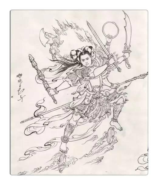 致敬经典《西游记》,传统文化手绘插画