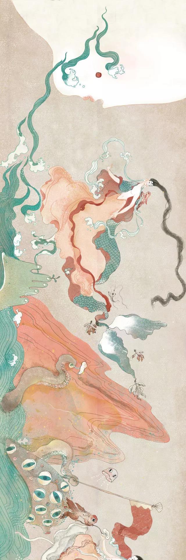 《洛神赋》绘本插画,最美的中国式爱情!