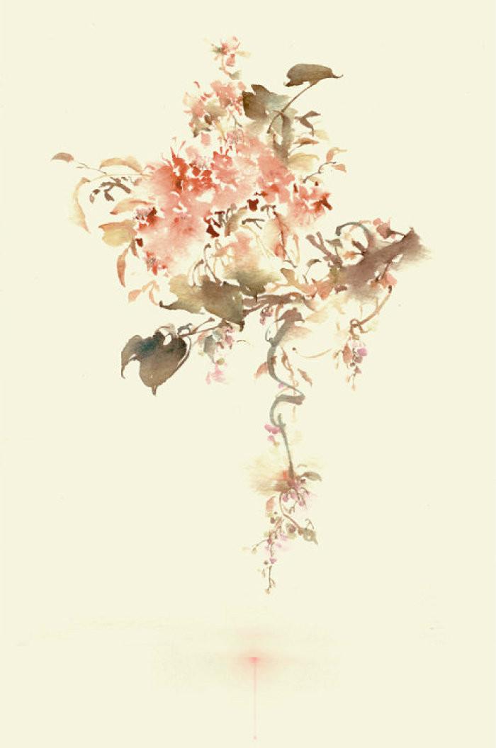水墨风格插画,中国风艺术手绘插画