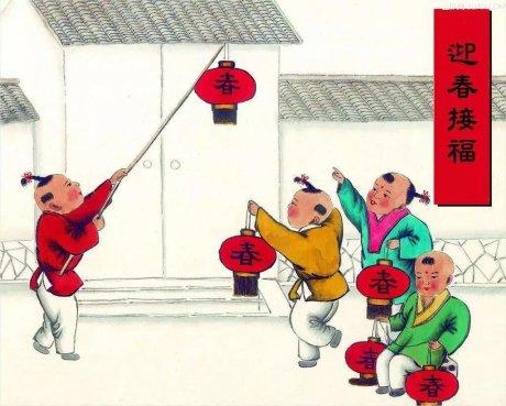 中国年画:《古代风俗百图》那