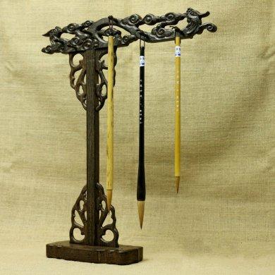 全天然鸡翅木笔架,朴实精致笔