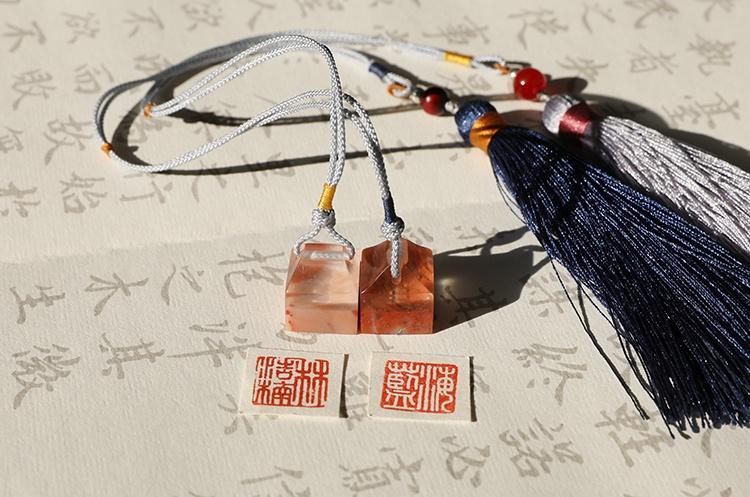 纯手工寿山石印章,精致小巧印章图片