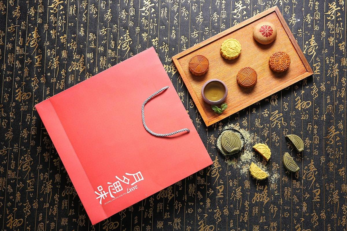 中秋月饼礼盒设计,唯美中国风食品包装设计
