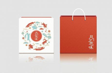 中秋月饼礼盒设计,唯美中国风