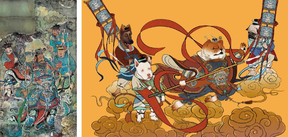 新颖风格新年海报,狗年特色海报设计