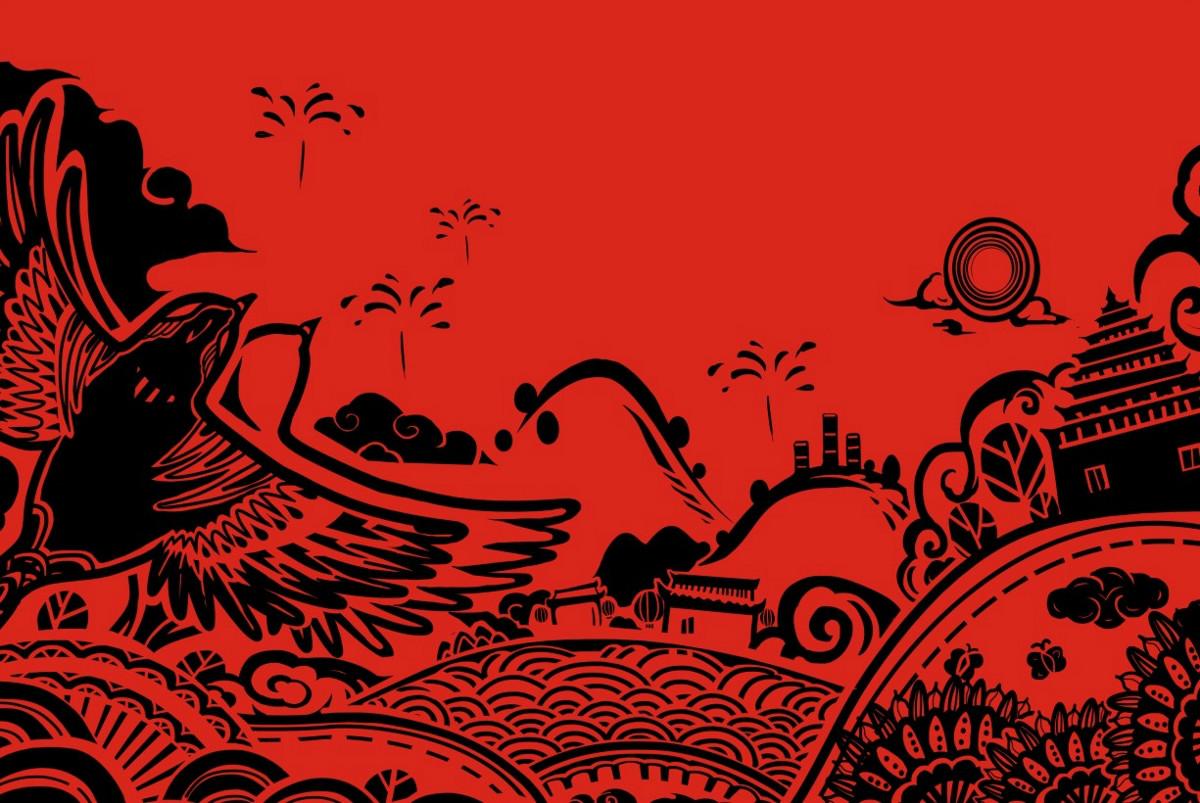 红色礼盒瓜子包装设计,古典特色食品包装设计