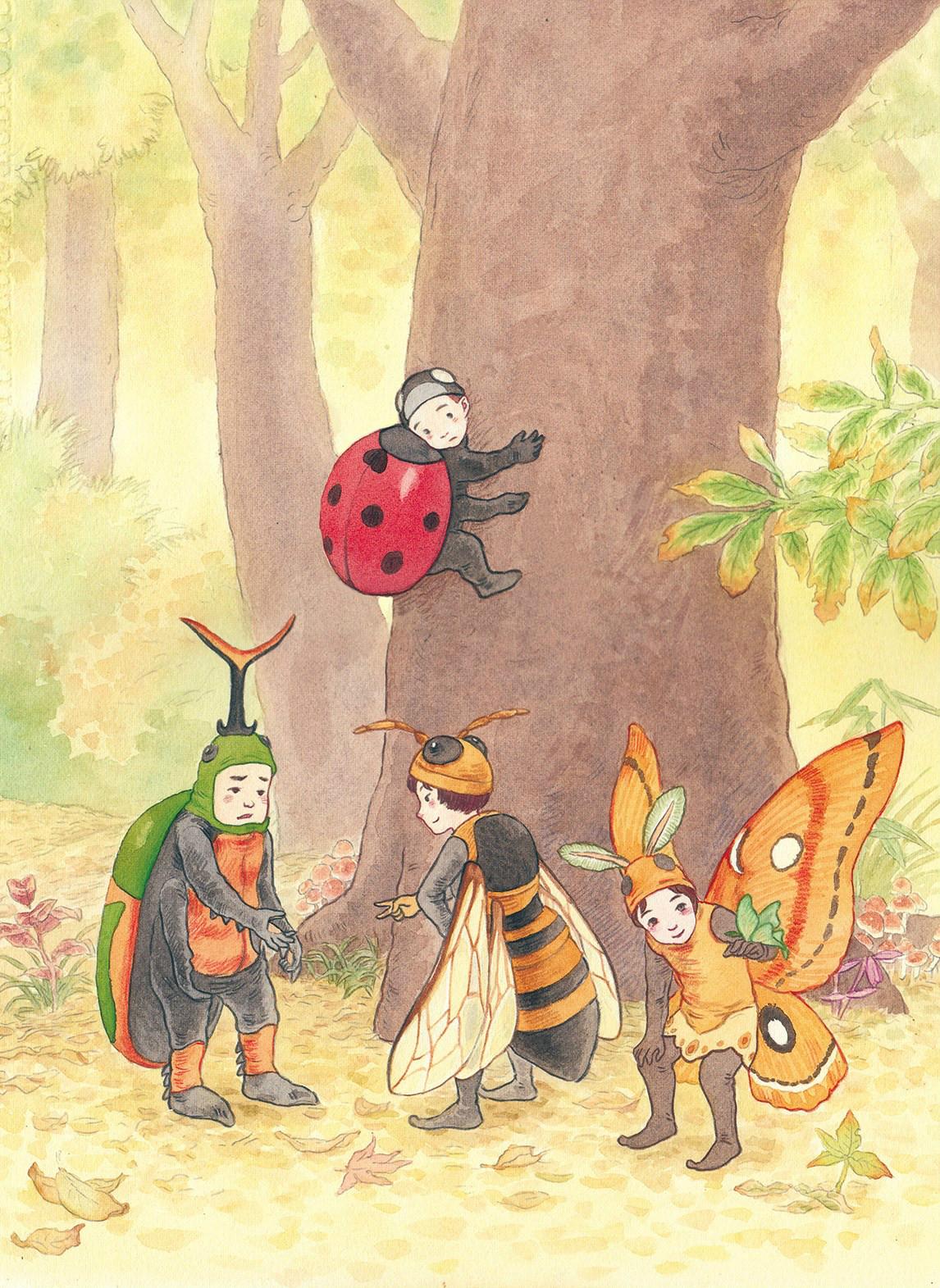 欢乐多姿的儿童世界,一组水彩儿童手绘插画