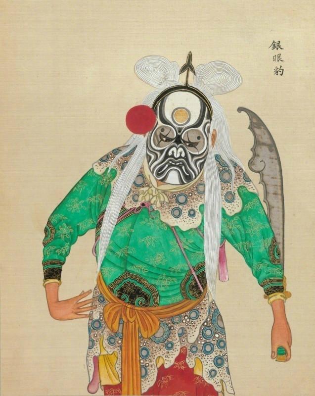 中国京剧艺术插画:九款清朝京剧人物肖像