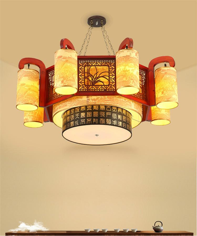 水墨国画典雅灯具,精致雅韵灯具设计