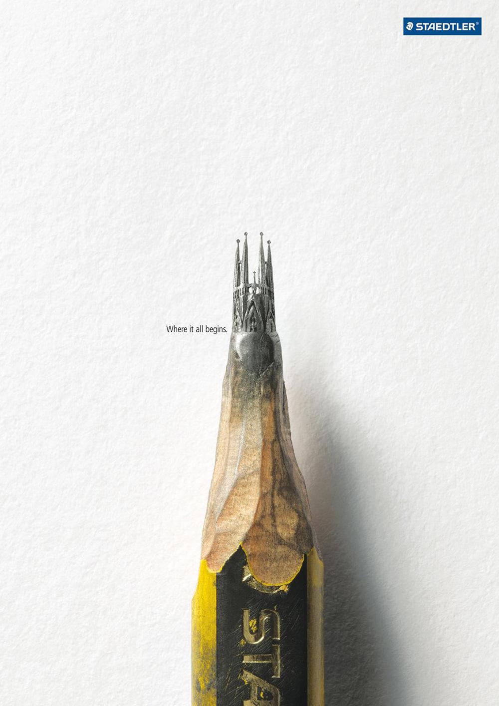 极简脑洞大开海报,办公用品海报设计