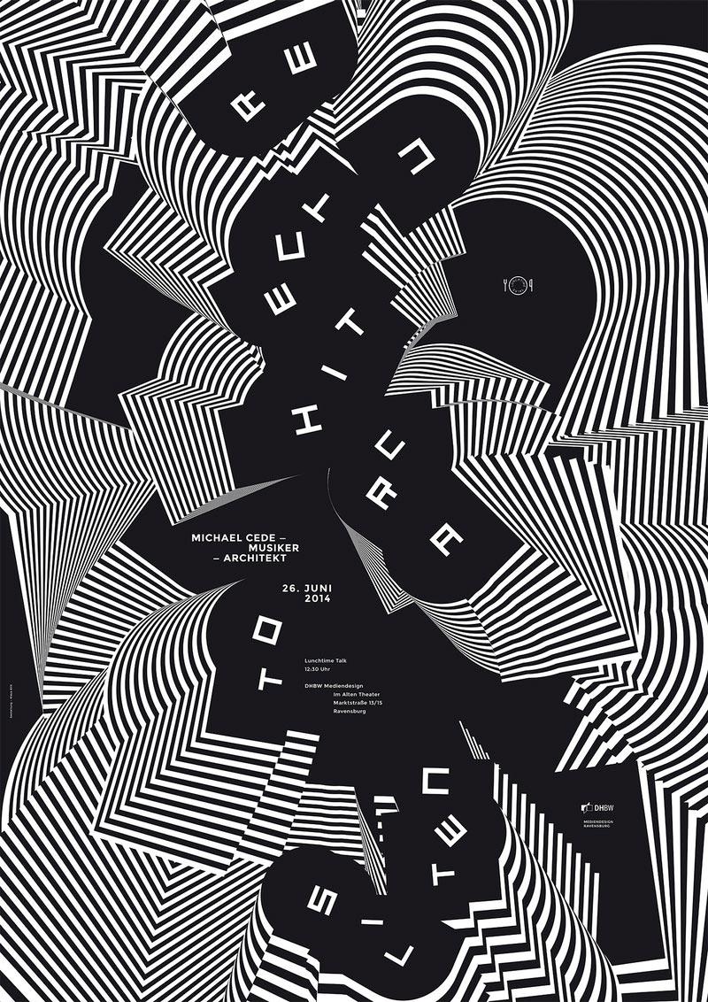 视觉冲击海报,三维视角海报设计