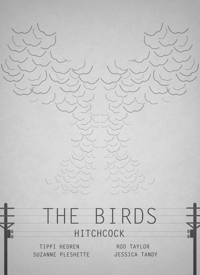 黑暗风格电影海报,简易个性海报设计