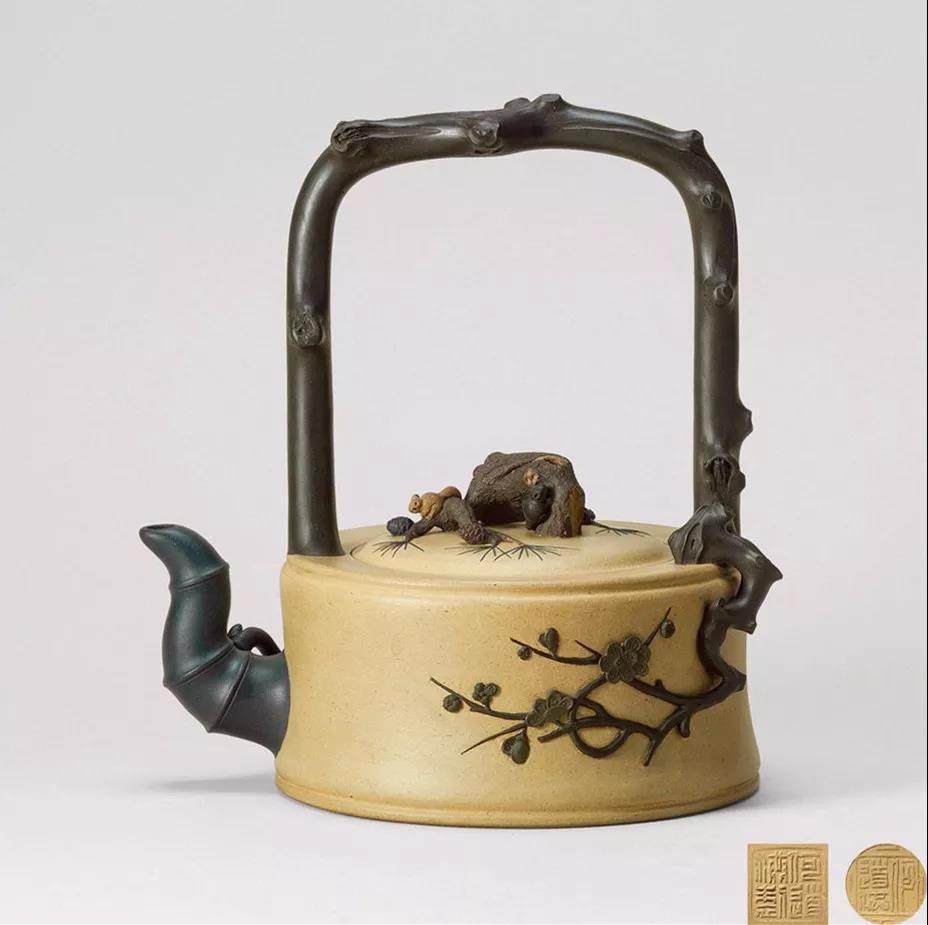 10种最美花器提梁壶,精美别致雕花紫砂壶!
