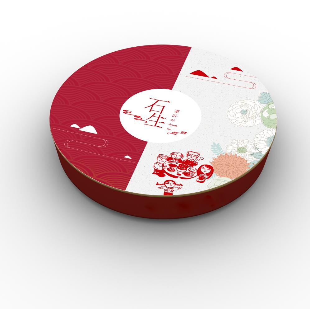 石生茶叶包装设计,简约水墨包装设计
