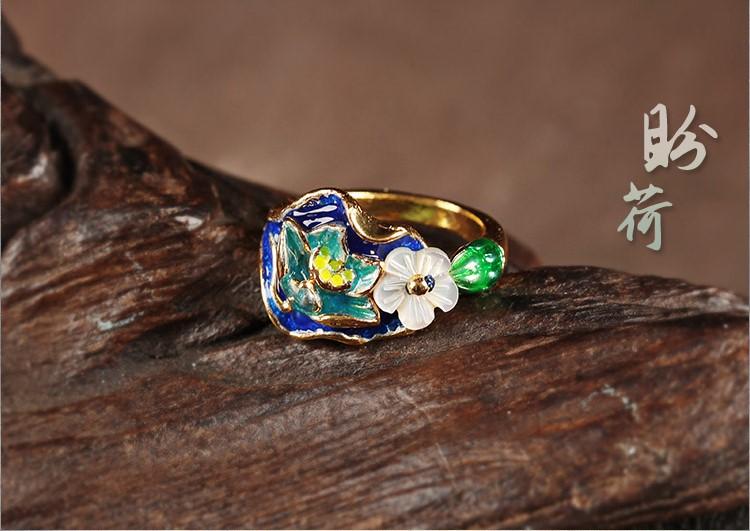 生趣盎然的古风指环戒指