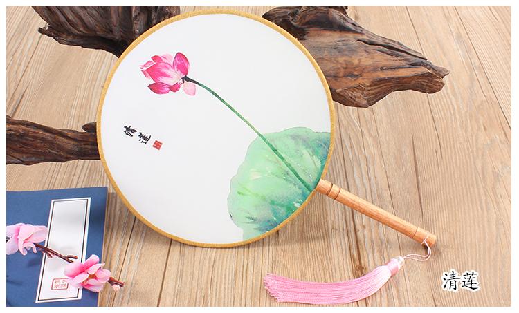花卉图案中国风团扇:16款古典双面花卉团扇