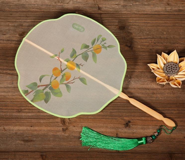 六款花式形状团扇,中国风双面古典扇子