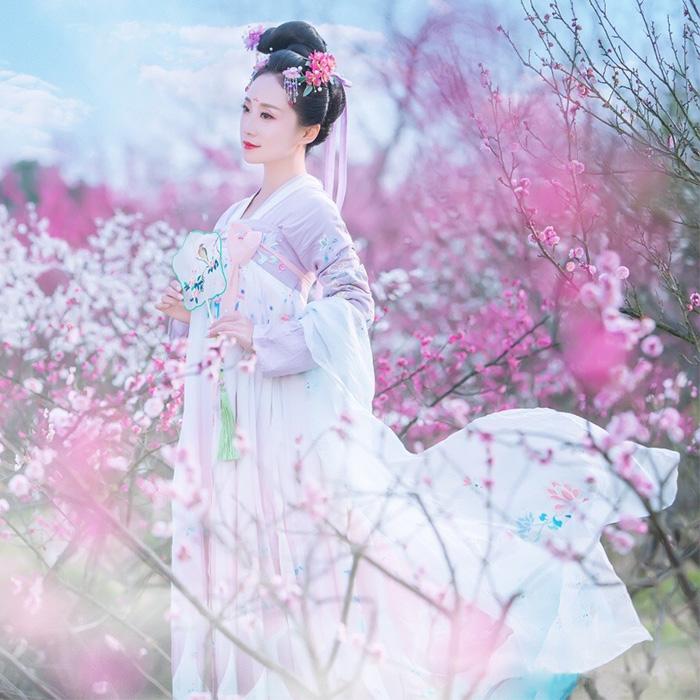 菩提雪齐胸襦裙,清新淡雅可爱汉服