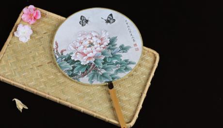 六款图案女式团扇,古风工艺汉