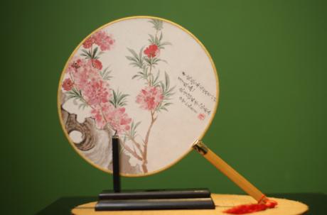 中国风宫扇女式团扇,古风工艺