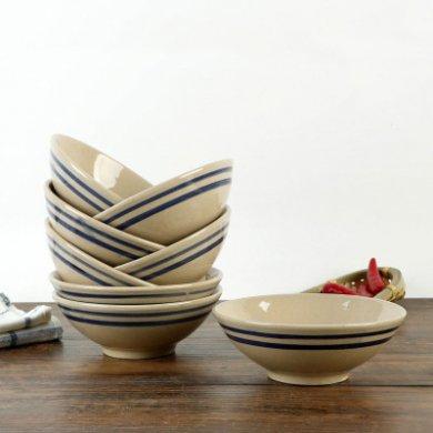 风格各异的陶瓷斗笠碗,简约大