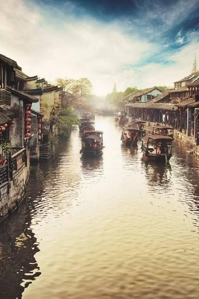 周新_唯美中国古建筑:小桥流水、亭台楼阁- 中国风