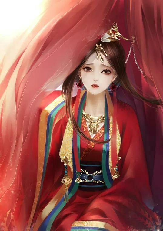 6款霸气唯美古风图片:红衣女子,翩若惊鸿