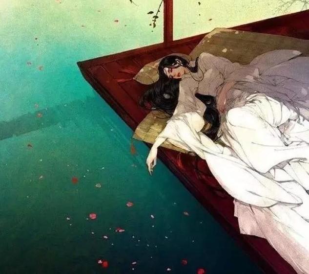 唯美古风图片:痛苦的相思引燃了另一种独孤