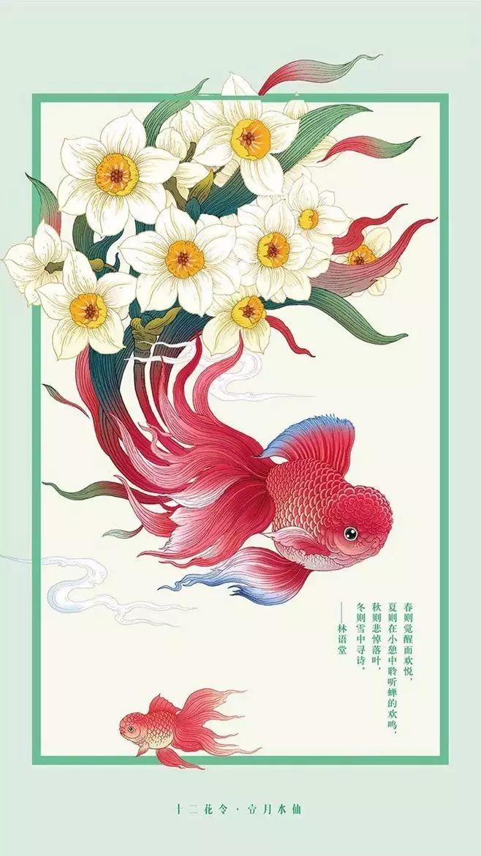 十二花令插画图片:以花为媒四季流转