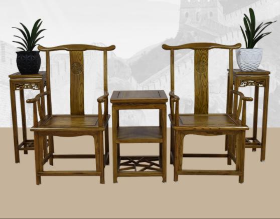 四款中式官帽椅,仿古浮雕实木椅子