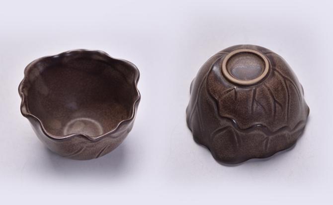 原创陶瓷泡茶自动茶具,佛手莲花功夫茶具