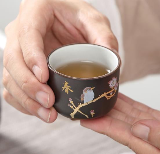 复古粗陶迷你一壶四杯茶具