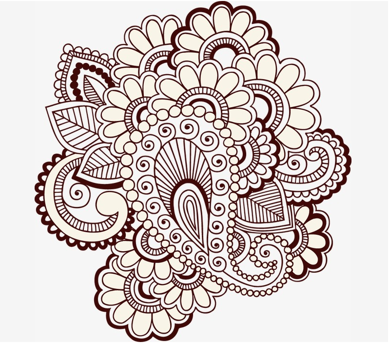 六款古典装饰花纹图案