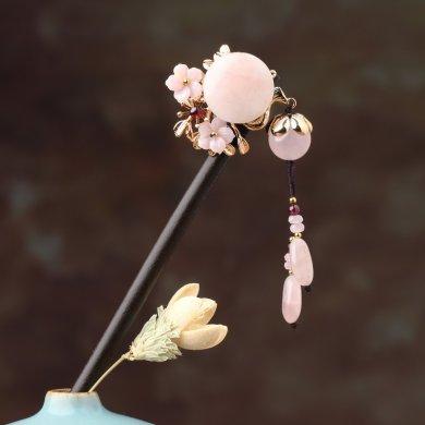 樱恋粉雪发簪,气质小清新粉水