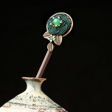 古典宫廷盘发簪子:古风中式发