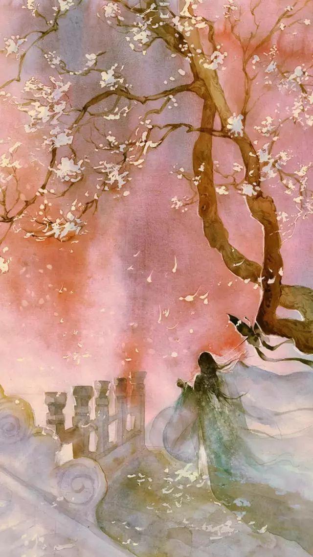 16款手绘唯美古风图片:一花一世界
