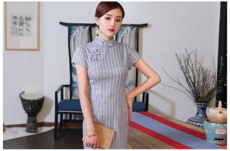 素雅民国风旗袍,时尚复古旗袍