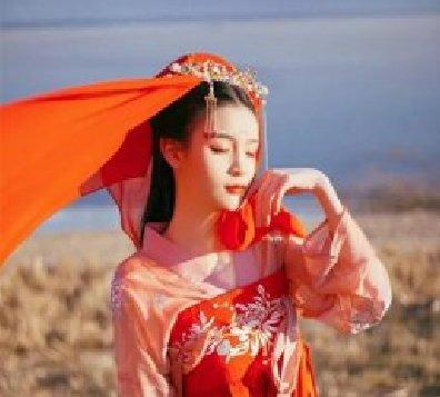婉娘齐胸襦裙,清新淡雅汉服图