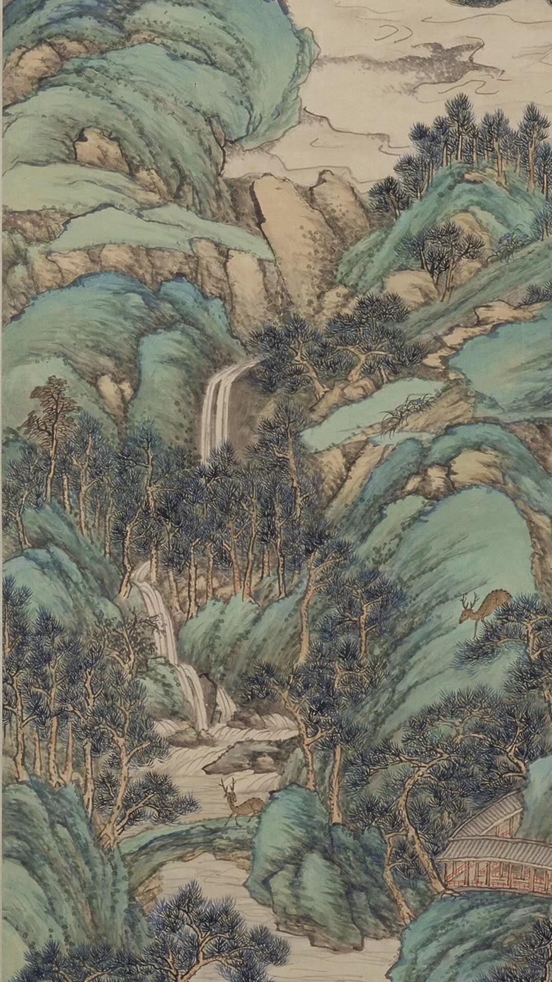 盎然春色的《仙境春长图》:青绿山水生机无限