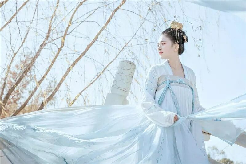 菩提雪慈航净绣花款,汉元素古装汉服