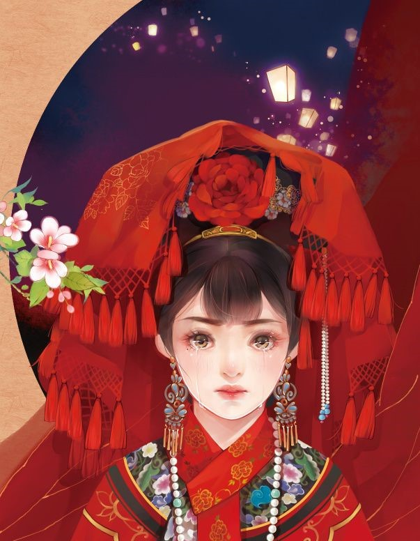 6张唯美古风图片:一袭红衣、披妆待嫁