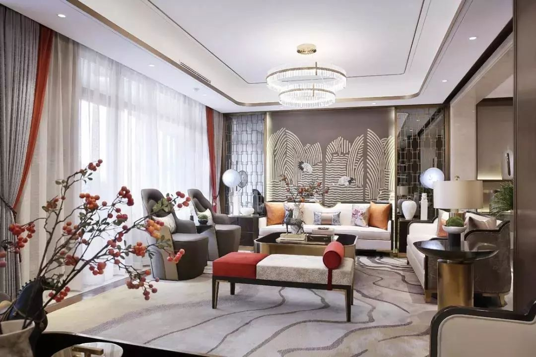 各具特色的中式装修沙发墙